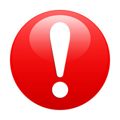 Bouton internet attention exclamation danger red