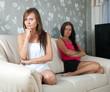 mid adult women  having quarrel