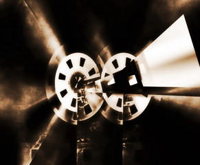 Old abstract movie projector
