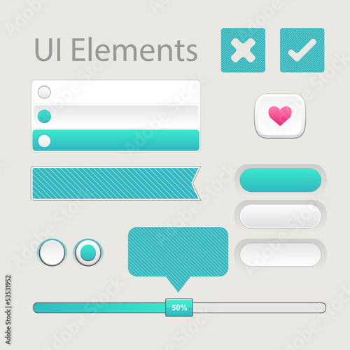 User interface elements set for web