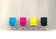 canvas print picture - 3D CMYK seats