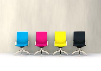 3D CMYK seats