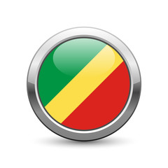 Congolese republic flag icon web button