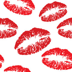 red kiss print pattern