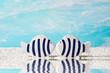 Liebespaar - zwei blaue Fische am Meer