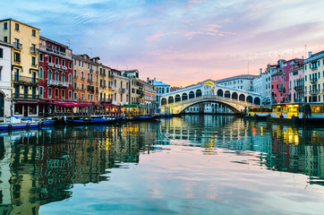 Sunrise at the Rialto Bridge, Venice
