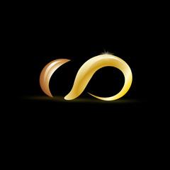 Golden vector Logo infinity