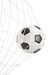 Soccer ball in a goal net