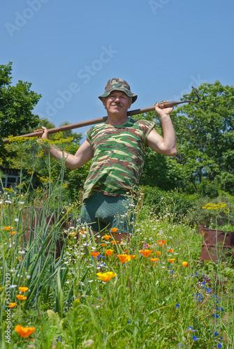 Gardener with hoe 11