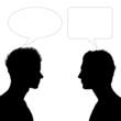 two men face to face dialogue