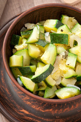 steamed zucchini with spices