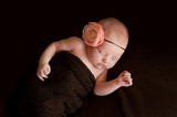Newborn Baby Girl with Flower Headband