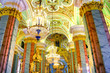 Interior of Peter and Paul cathedral, St. Petersburg, Russia