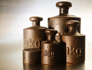 Alte Gewichte - Haushaltswaage