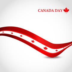 """Happy Canada Day"" greeting card design."