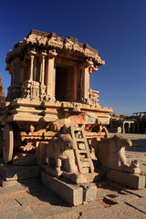 Stone Chariot at Vitthala Temple in Hampi, India.