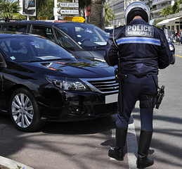Police municipal en action