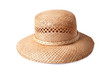 female summer straw hat isolated on white background