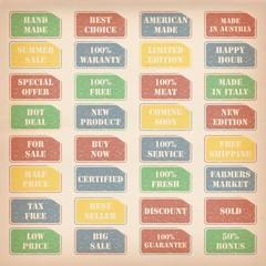 retro sale stamps