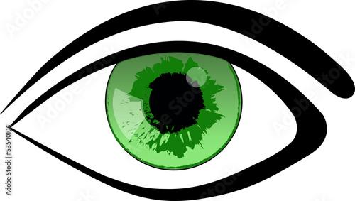 grünes Auge Vector Webicon