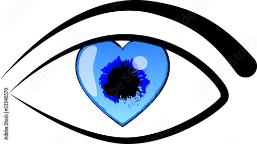 Eye Love Vector
