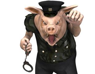 Schwein als Polizist
