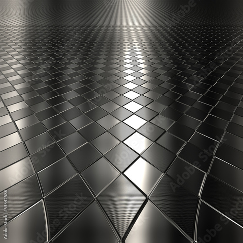 Dark metal silver checked  pattern