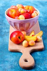 Nectarines and sweet cherry