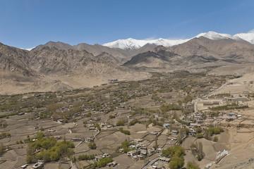 View on Leh, Ladakh, India.