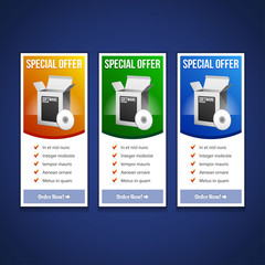 Special Offer Banner Set Vector Colored