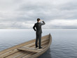 businessman looking on ocean