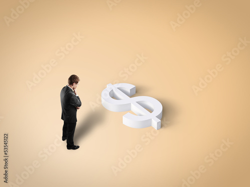 man and toy dollar sign