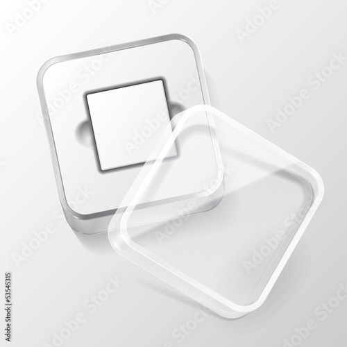 Glossy Plastic Box Square With Rounded Corners