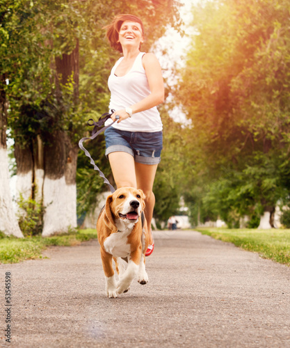 Active walk with pet