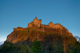 Edinburgh castle at sunset, Scotland, UK