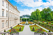Mirabell Gardens with Mirabell Palace in Salzburg, Austria