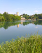 Panorama of Adda River, Trezzo - Italy