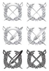 Silver emblem