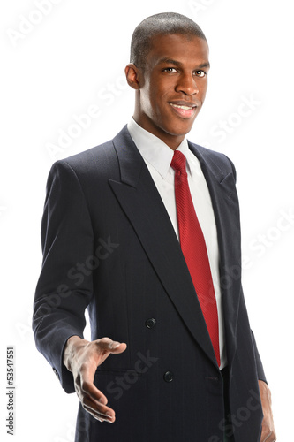 Young Businessman Offering Handshake