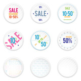 Sale White Shadowy Labels poster