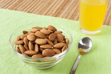 Raw Almonds Snack