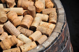Bunch of wine corks