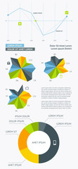 Flat Elements of Infographics