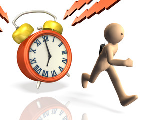 3D rendered image depicting a time limit