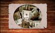 Holzplakat - Dollarposter