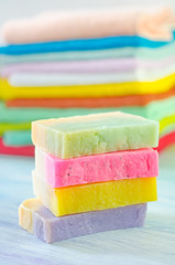 Assortment of soap and towels