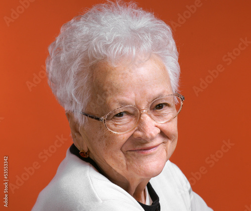 Portrait of smiling old woman