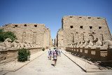 Ancient ruins of Karnak temple in Egypt in the summer