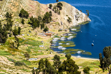 Isla del Sol on the Titicaca lake, Bolivia.