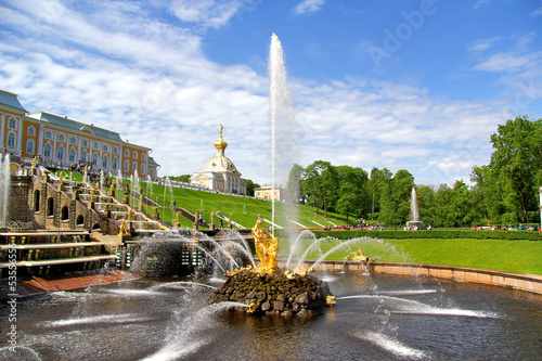 Samson Fountain in Peterhof Palace, Russia